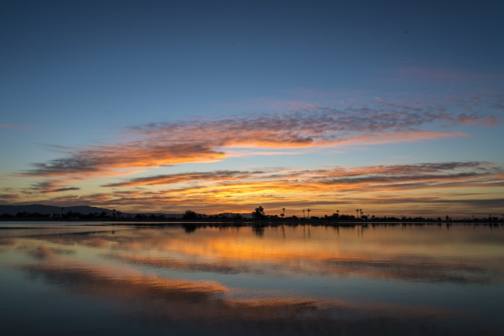 sunrise over lake cahuilla